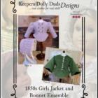 KDD-02 ~ 1850s Girls Jacket and Bonnet