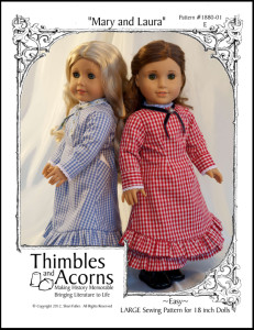 Click Here to find Thimbles and Acorns Mary and Laura pattern at Pixie Faire.