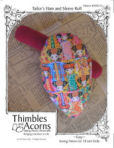 Mini Tailor's Ham and Sleeve Roll, Thimbles and Acorns Pattern #FREE-01