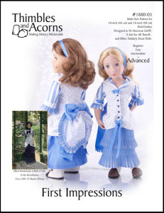 Click Here to find Thimbles and Acorns First Impressions pattern at Pixie Faire.