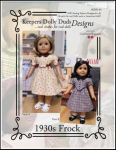 1930s Frock, Keepers Dolly Duds Designs Pattern #KDD-05