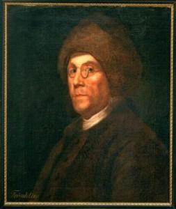 Benjamin Franklin in his cap