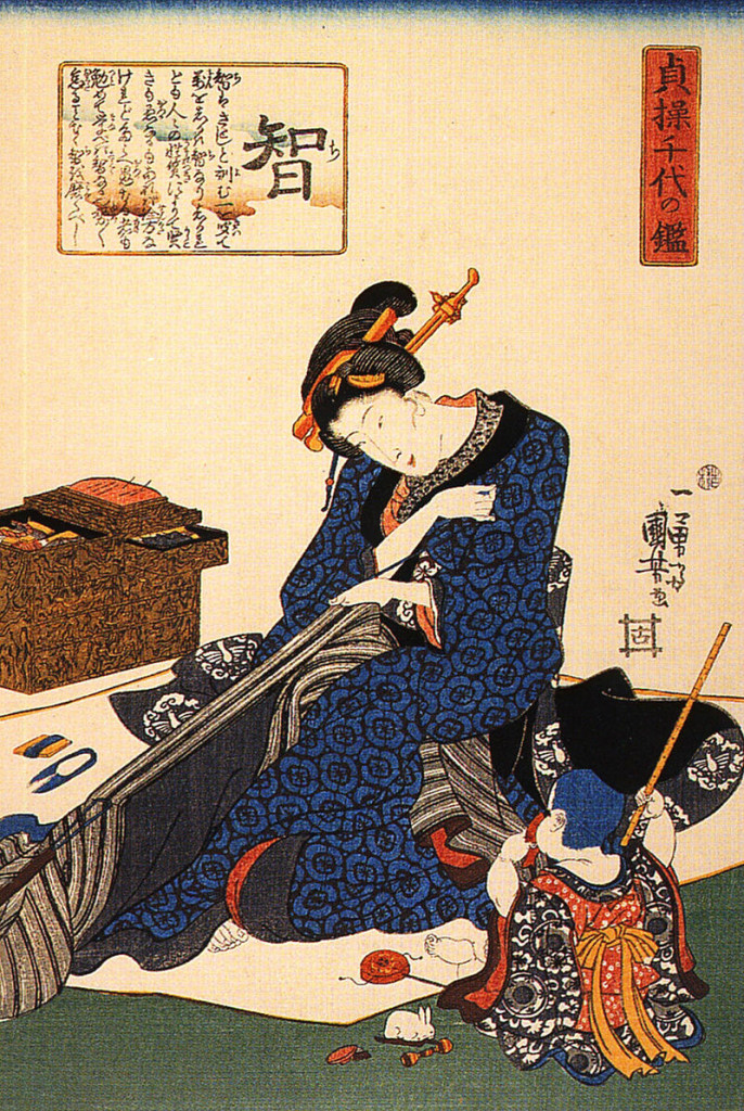 800px-A_seated_woman_sewing_a_kimono