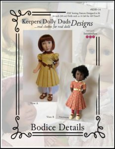 Bodice Details, Keepers Dolly Duds Designs Pattern #KDD-14-16