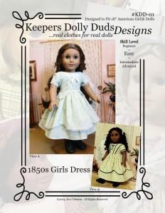 1850s Girls Dress