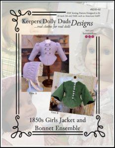 1850s Girls Jacket and Bonnet Ensemble