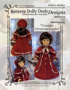 Victorian Christmas Caroler, Keepers Dolly Duds Designs Pattern #KDD-07