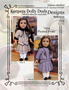 1914 Pleated Frock, Keepers Dolly Duds Designs Pattern #KDD-08