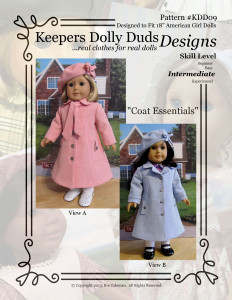Coat Essentials, Keepers Dolly Duds Designs Pattern #KDD-09