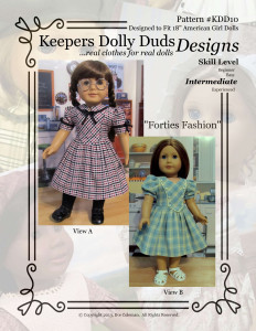 Forties Fashion, Keepers Dolly Duds Designs Pattern #KDD-10