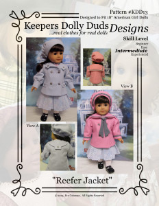 Reefer Jacket, Keepers Dolly Duds Designs Pattern #KDD-13