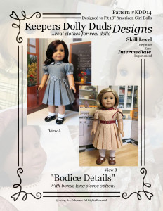 Bodice Details, Keepers Dolly Duds Designs Pattern #KDD-14