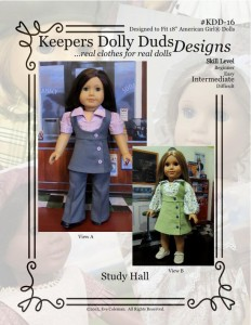 Study Hall, Keepers Dolly Duds Designs Pattern #KDD-16