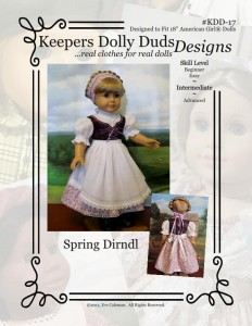 Spring Dirndl, Keepers Dolly Duds Designs Pattern #KDD-17