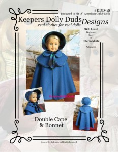 Double Cape and Bonnet, Keepers Dolly Duds Designs Pattern #KDD-18