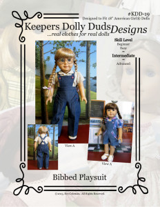 Bibbed Playsuit, Keepers Dolly Duds Designs Pattern #KDD-19