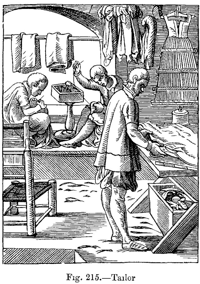 Tailor from Das-Ständebuch the Book of Trades, 1568