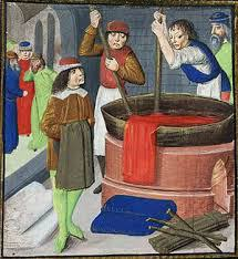 Dyeing Wool Cloth, 1482.