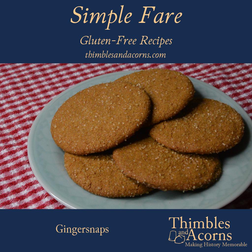 Gluten-Free Ginger Snaps