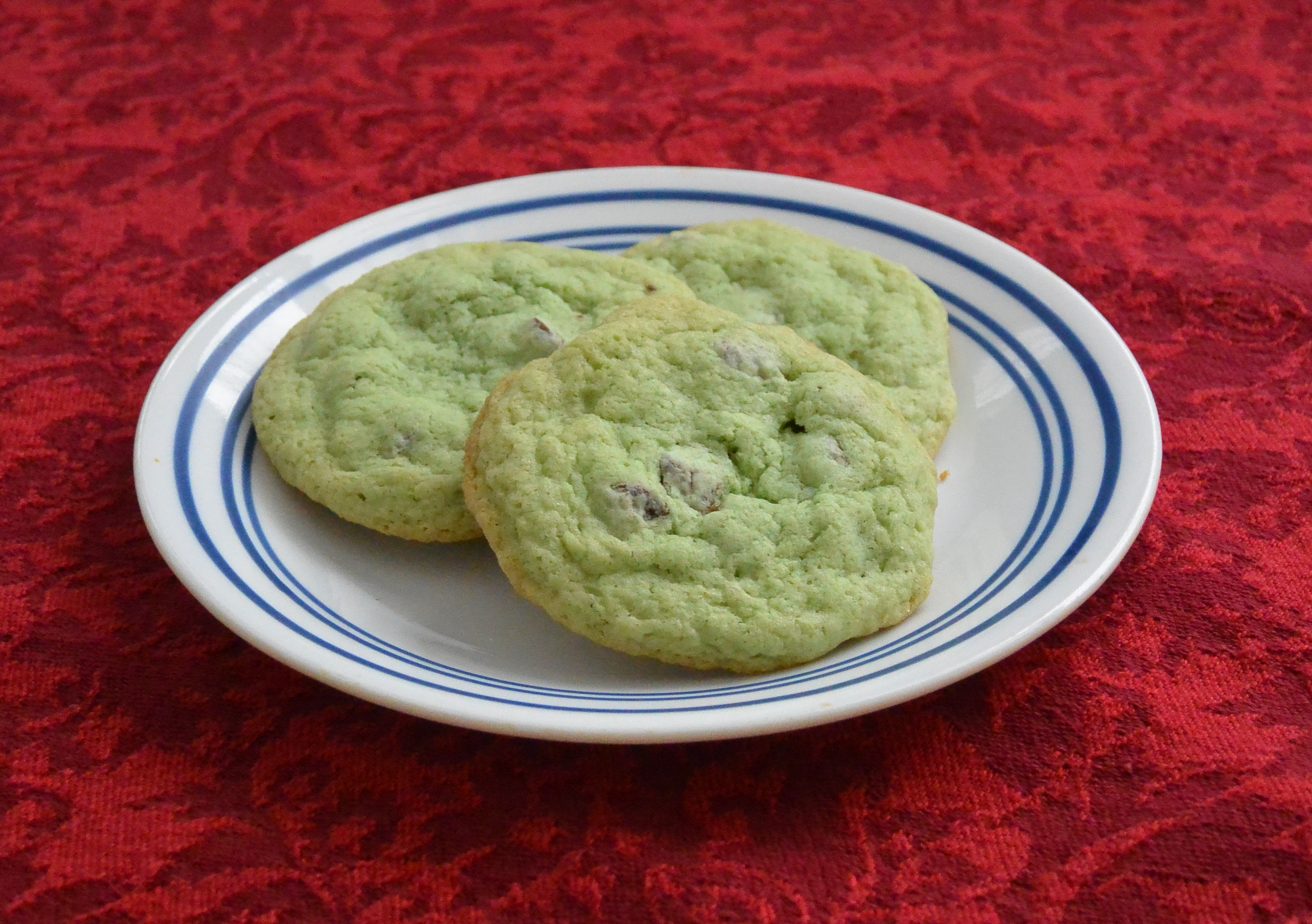 Gluten-Free Mint Chocolate Chip Cookies