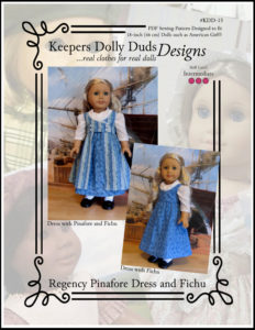 Regency Pinafore Dress and Fichu, Keepers Dolly Duds Designs Pattern #KDD-15